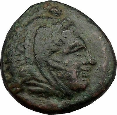 Alexander III the Great 336BC Ancient Greek Coin Hercules Bow Club i37083