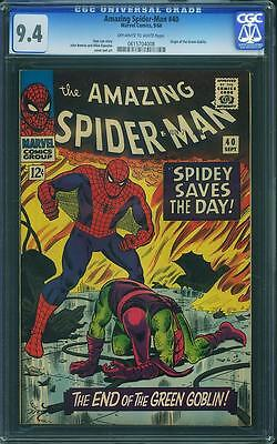Amazing Spider-man #40 CGC 9.4 1966 Green Goblin Origin!! C12 618 1 cm clean