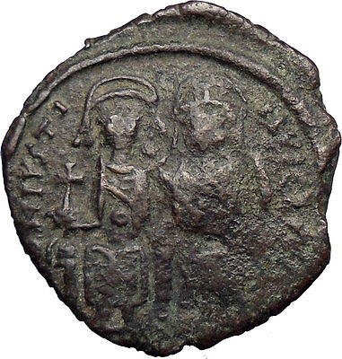 JUSTIN II & Queen Sophia 565AD HUGE Medieval  Ancient Byzantine Coin  i28647