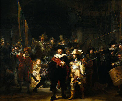 Dream-art Oil painting Rembrandt - The Nightwatch hand painted in oil on canvas