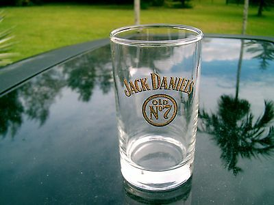 "Jack Daniel's Old No.7 Brand Logo 5"" Round Bottom Sturdy Golden Logo  Glass"