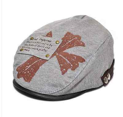 Boys Girl kids Children Cross Beret Hunting Pageboy Cabbie Golf Cap Sun Hat