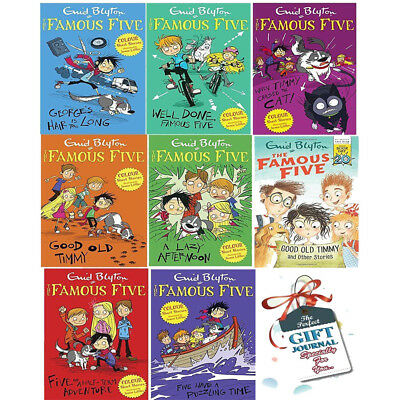 Enid Blyton Famous Five Short Stories Collection Series 8 Books with GiftJournal