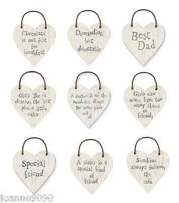 EAST OF INDIA WOODEN LITTLE HEART HOME SIGN MOTHERS DAY WEDDING FAVOUR GIFT TAG