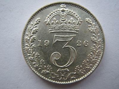 1926 silver Threepence, 1st Obverse, A UNC.