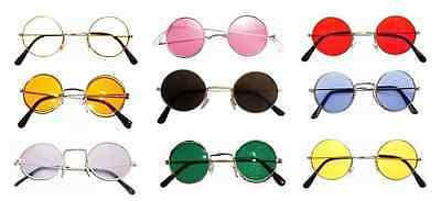 *Hippy Hippie 60s 70s John Lennon Round Ozzy Granny Fancy Dress Costume Glasses*