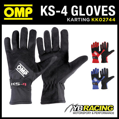 Sale! Kk02744 Omp Ks-4 Ks4 Kart Karting Gloves Entry Level Suit Beginner Driver