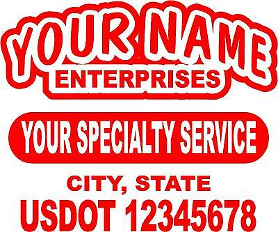 Semi Truck Lettering or Utility Trailer LETTERING - (1 sign) 22.5 X 18 inches