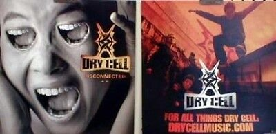 DRY CELL 2002 disconnected recalled promo poster/flat ~MINT condition~RARE~!!
