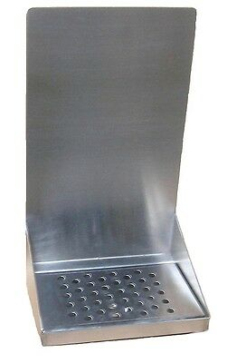 "Draft Beer Tower Wall Mount Drip Tray 8"" Long # DTWM8SS"