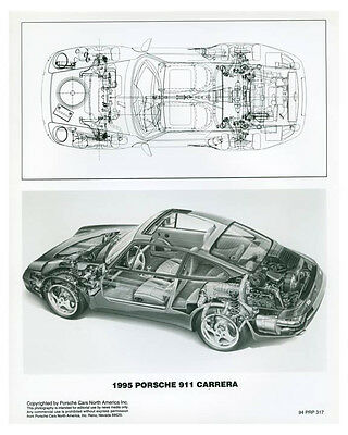 1995 Porsche 911 Carrera Cutaway Photo Poster zch3738