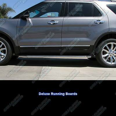Fits 2017 Ford Explorer 72 Deluxe Side Steps Nerf Bars Running Boards