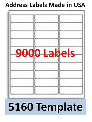9000 Laser/Ink Jet Labels 30up Address Compatible with # 5160. Templates