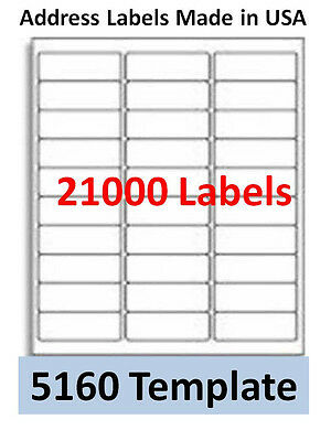 21000 Laser/Ink Jet Labels 30up Address Compatible with 30 Up Templates