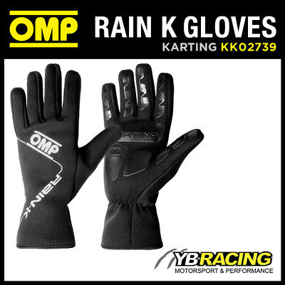 KK02739 OMP RAIN K GLOVES for OUTDOOR KARTING NEOPRENE RAINPROOF in 4 SIZES