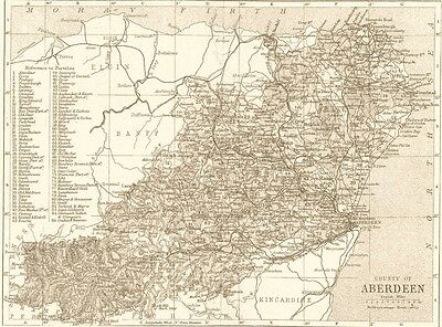 Antique Reproduction Any County Map: Scotland, Scottish, Great Britain, UK