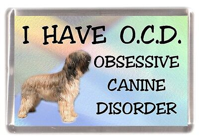 "Briard Dog Fridge Magnet ""I HAVE O.C.D.""  by Starprint"