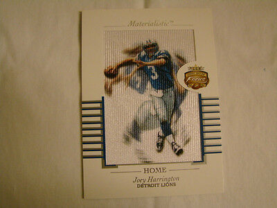 2002 Fleer Focus Joey Harrington Materialistic Home Box Topper Detroit Lions