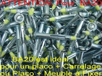 200 Chevilles MOLLY,,Filetage Ø 3 mm, Long 46 mm,placoplatre,,placo (pour BA20)