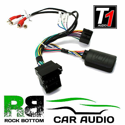 T1 Audio T1-AD3 Audi TT Car Steering Wheel Controls Adaptor Plug FREE PATCH