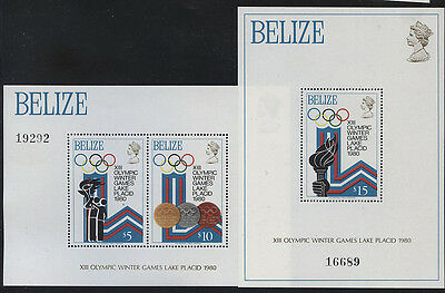 Belize - 1979 Winter Olympics Pair Of M/s Mnh Sg.ms531  (Ref.a35)