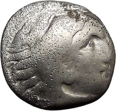 ALEXANDER III the GREAT Macedonian King Ancient Silver Greek Coin 322BC i37287
