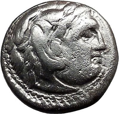 PHILIP III Macedonian Silver Greek Coin w ALEXANDER the GREAT Face 323BC i37252
