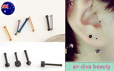 1PC Surgical Stainless Titanium Mini small Ear Earring Nose Studs Body Piercing
