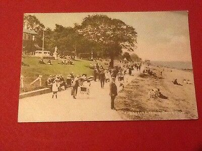 Old Postcard Green And Beach Cowes