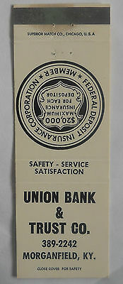 Union Bank & Trust Co. Morganfield KY Matchcover 011714