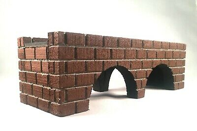 "G GAUGE BRICK BRIDGE / Model Railroad Accessories - 24"" with Arches"