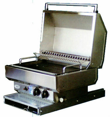 Swift 3 Way Stainless Steel Bbq - Great For Caravans, Rv's & Boats
