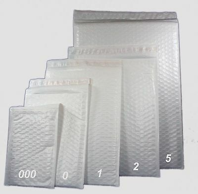 """500 SZ #000 4""""X7"""" PREMIUM BUBBLE LINED POLY MAILERS SELF SEAL PLASTIC SHIPPER"""
