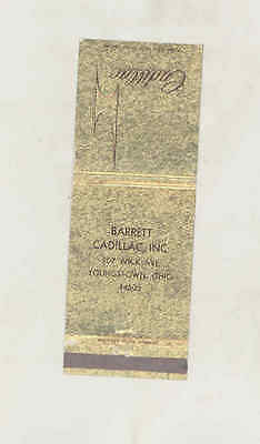 1971 Barrett Cadillac Automobile Dealer Matchbook Cover Youngstown OH mb3195