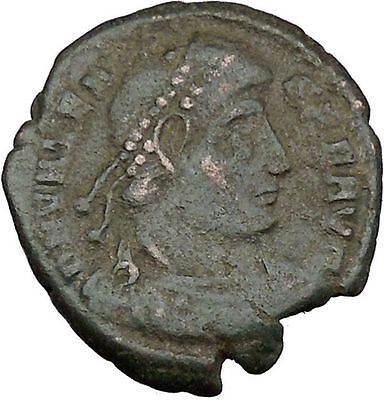 "VALENS ""Last True Roman"" w labarum 364AD Ancient Roman Coin Christ monog  i37466"