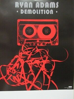 RYAN ADAMS 2001 demolition promotional poster NEW old stock  Flawless condition
