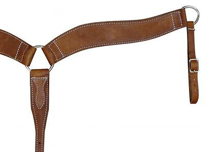Western Saddle Horse Heavy Duty Leather Breast Plate Collar Roping  Reining