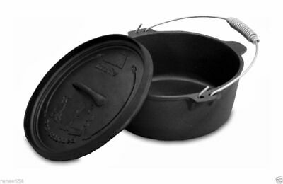 CAMPFIRE 4.5 Quart Camp Oven New Cast Iron Cookware Caravan Camping RV