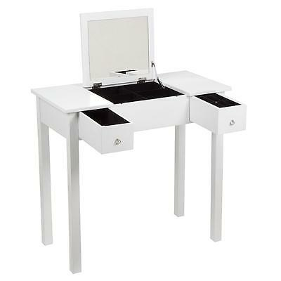 Bedroom Dressing Room Table With Folding Vanity Mirror Make Up/hair/jewellery