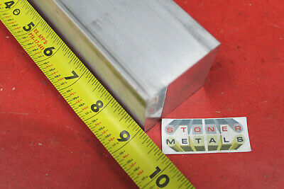 "2"" X 2"" ALUMINUM 6061 SQUARE FLAT BAR 9"" long Solid 2.000"" T6511 New Mill Stock"