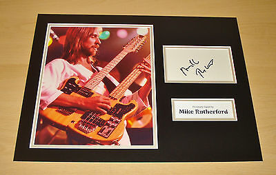 Mike Rutherford SIGNED Photo 12x16 Authentic AUTOGRAPH Display Genesis + COA