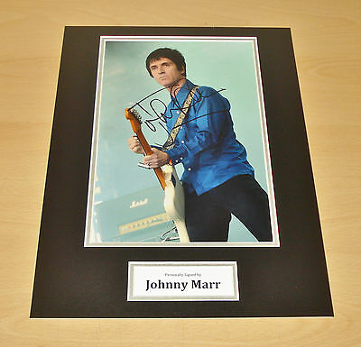 Johnny Marr SIGNED Photo 12x16 Authentic AUTOGRAPH Display The Smiths + COA