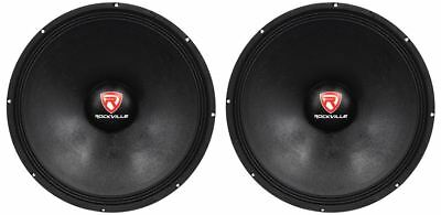 "2 Rockville RVP18W8 2400w 18"" Pro Subwoofers 8-Ohm Raw Sub Woofers 90 Oz Magnets"