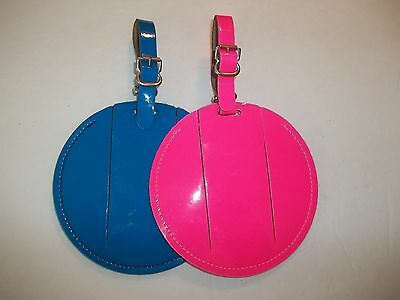 4, plain 4 1/2 inch,pink and blue neon luggage tags, OR HOW MANY DO YOU NEED