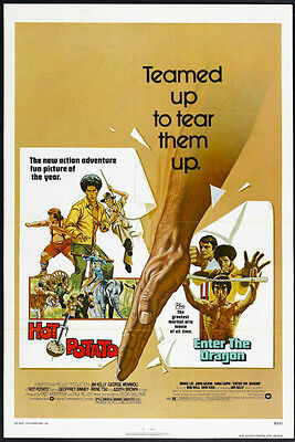 ENTER THE DRAGON/HOT POTATO one sheet BRUCE LEE/JIM KELLY original movie poster