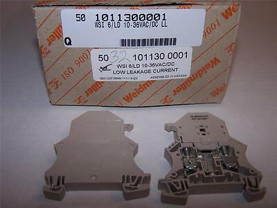 Weidmuller  1011300001 Fusible Terminal Block Wsi6/ld10-36Vac/dcll New Lot Of 5
