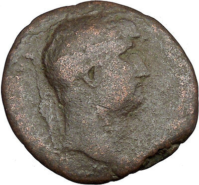 Hadrian  travelling 117AD RARE Authentic Ancient Roman Coin  Galley Ship i37602