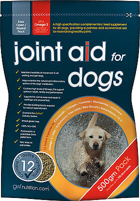 Gro Wells Joint Aid for Dogs Supplement with Glucosamine 500g Mobility