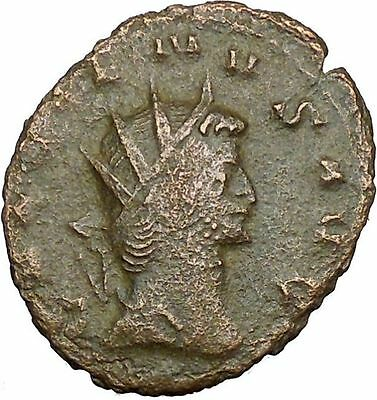 GALLIENUS son of Valerian I 265AD Ancient Roman Coin  Cult Mars w branch  i34097