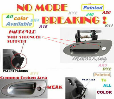 MotorKing Door Handle For NISSAN ALTIMA Outside Front Left KY2 Pewter B3779